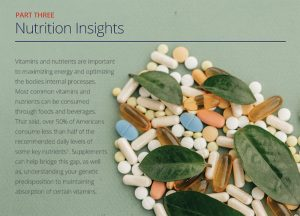 An excerpt of the vitamin section of the report