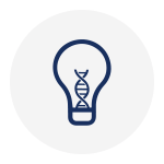 Light bulb with DNA inside - icon