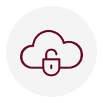 An image of a cloud with a lock - an icon