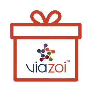 An image of a gift box with the Viazoi logo